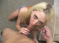 Naughty Blowjob of Young Blonde