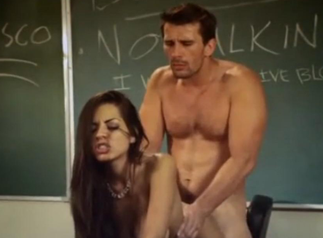 Naughty schoolgirl Yurizan Beltran seducing teacher