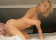 Juicy Blonde Monroe Plays With Her Pussy in Bed