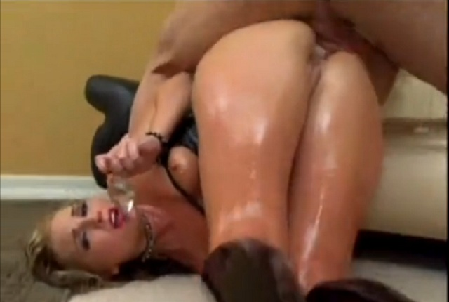 Flower Tucci and Her Oiled Ass Get Anal Fuck