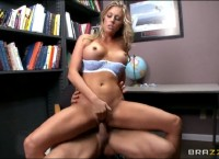 Hot Blonde Samantha Saint Gets a Hard Fucking in School