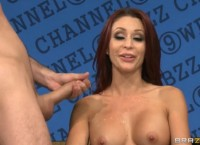 Busty Reporter Monique Alexander Gets Anal Fuck in the Show