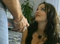 Beautiful MILF With Big Tits Gets Big White Cock and Fucks With It