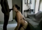 Amateur Ebony Guy With a Big Dick Screws White Slut