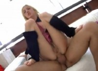 Hot blonde slut Hillary Scott gets a hard anal fuck