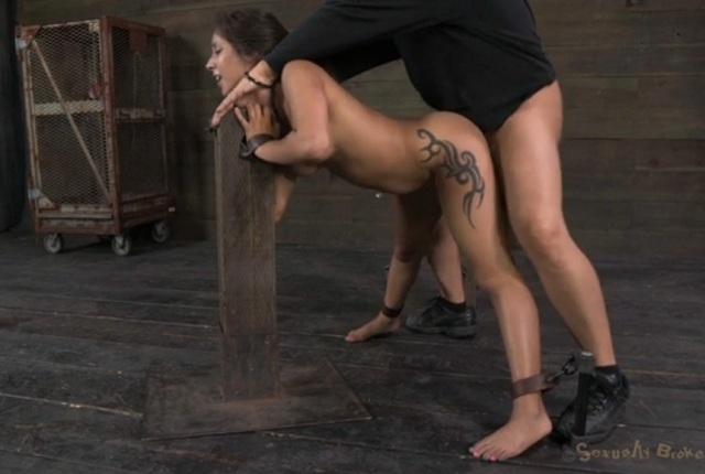 Hot Brunette Jynx Maze Gets Tied Rough Sex Game