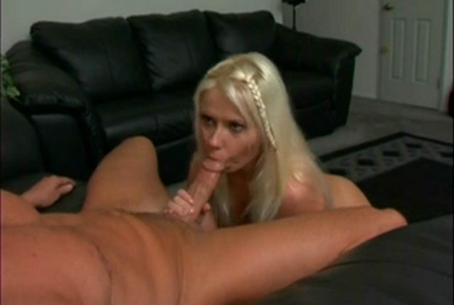 Blonde Bitch Summer Gives Deep Sucking Huge White Cock – POV