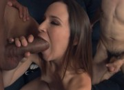 Cristina Agave Pregnant Brunette Gets Big Black Cock