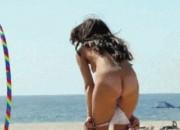 Nude Hula Hoop on a Beach