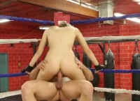 Hardly fucking in gym insade ring for blonde nasty Natalia Starr