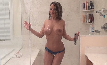 Nikki Sims Wet Natural Tits Under Shower