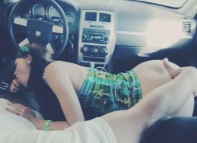 Petite Redhead Public Sex in a Car Sensi Pearl