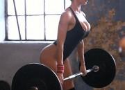 Aleska Diamond Big Juggs in the Gym