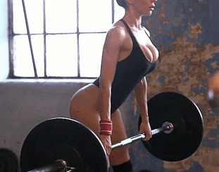 Aleska Diamond big juggs in the gym