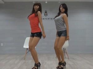 Asian Twin Sisters Hot Dancing
