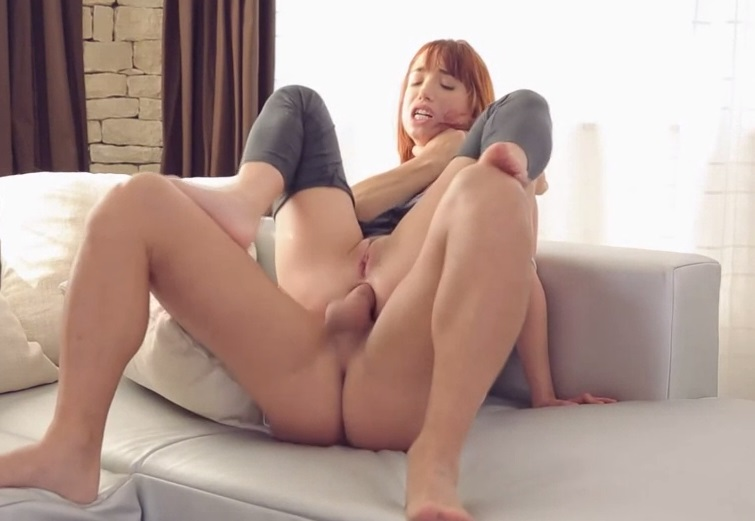 Young redhead Tina Hot gets fucked in the ass