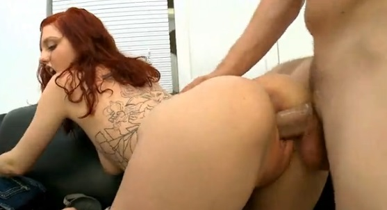 Tattooed Redhead Ginger Maxx Taken From Behind