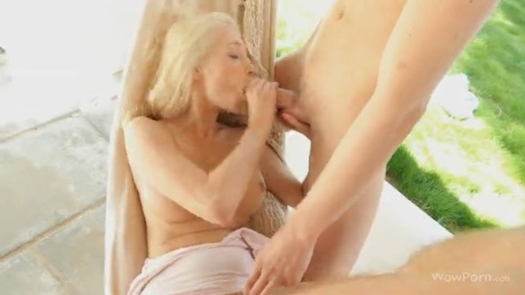 MMF Threesome for Blonde Nancy
