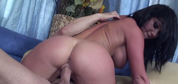Awesome Cockriding by Juicy Ass Brunette Jayden Jaymes