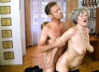Granny doing anal for the first time with Rocco Siffredi