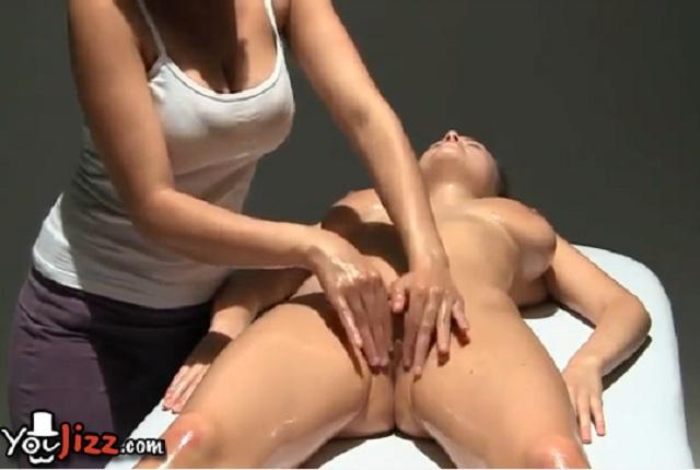 Lesbian Oil Anal Massage