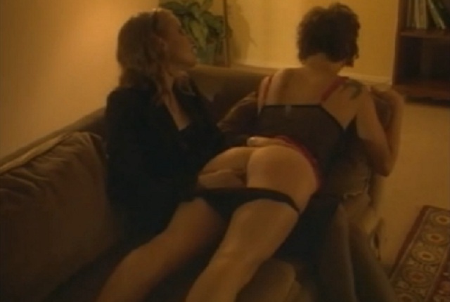 Two hot lesbians and a fire in their bed