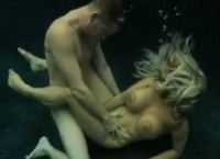 Beautiful busty blonde has amazing sex underwater