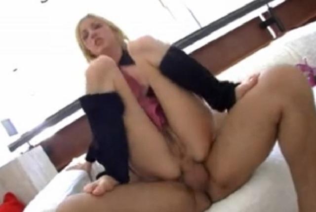 Hot blonde slut Hillary Scott gets a hard anal fuck