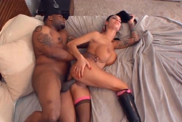 Amazing busty slut Angelina Valentine gets black monster in her asshole