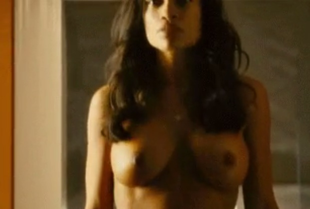 Rosario Dawson nude with shaved pussy and cowed nipples