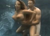 Underwater sex with busty brunette Holly Halston