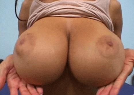 Big natural boobs full of chocolate milk of Tyra Moore