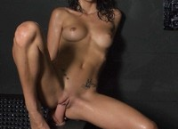 Wet girl undershower with dildos