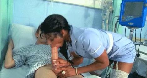 Ebony nurse Jasmine Webb seduces her patient