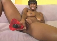 Juicy ass ebony babe Stacy Adams gets big white cock