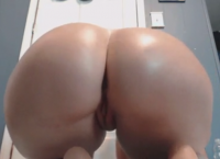 Juicy ass brunette twerking her ass in front of webcam