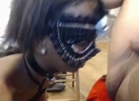 Rough mouthfuck for nasty ebony babe