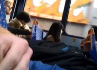 Dick flash in bus to a shocked girl